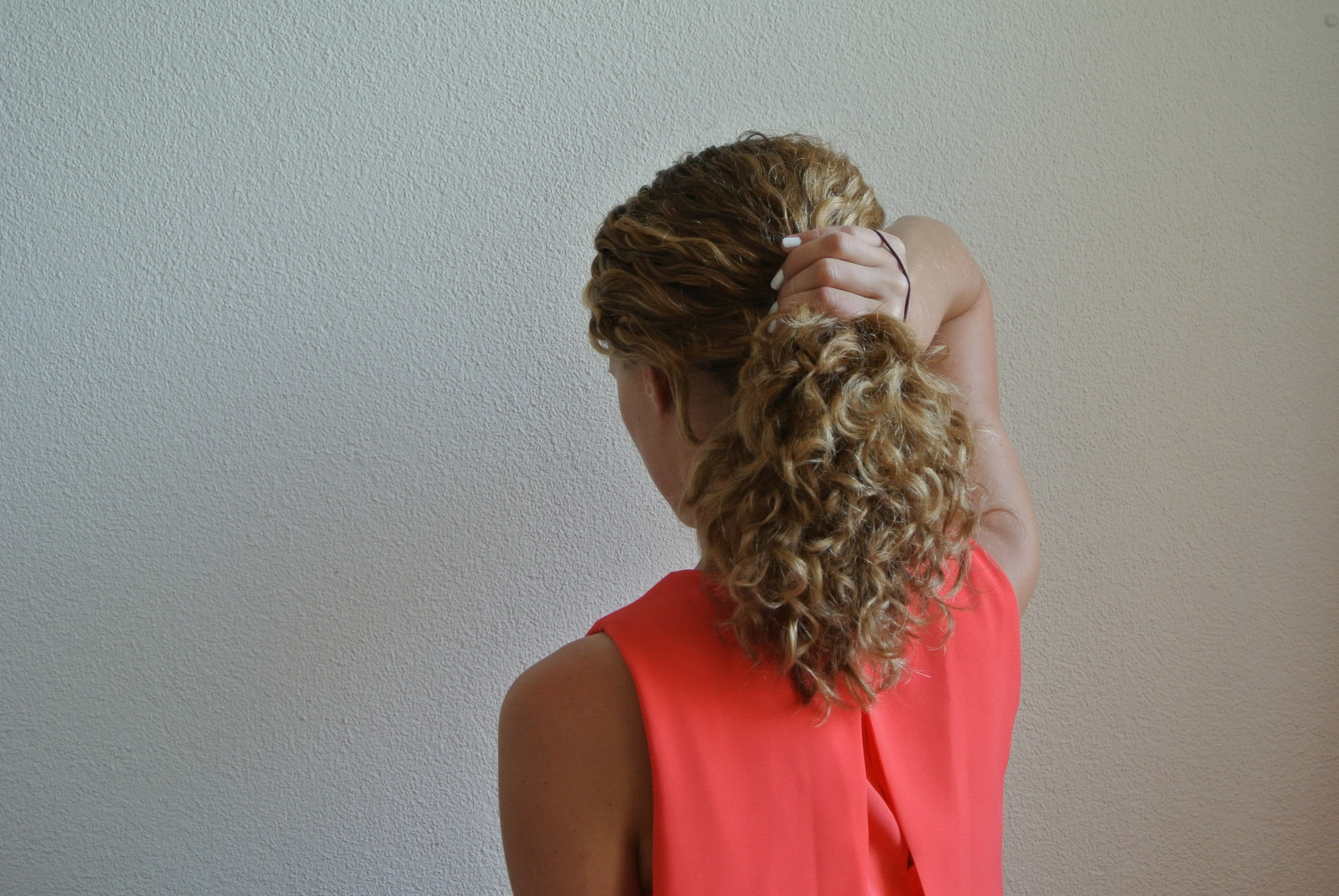 Curly Hair Bobby Pins Style
