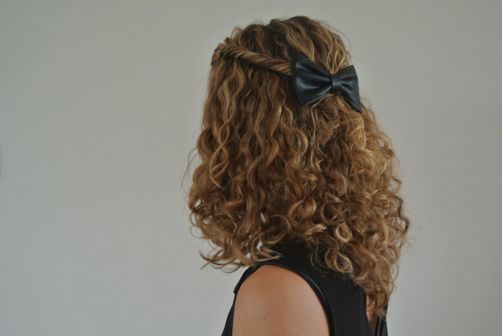 The twisted half-updo