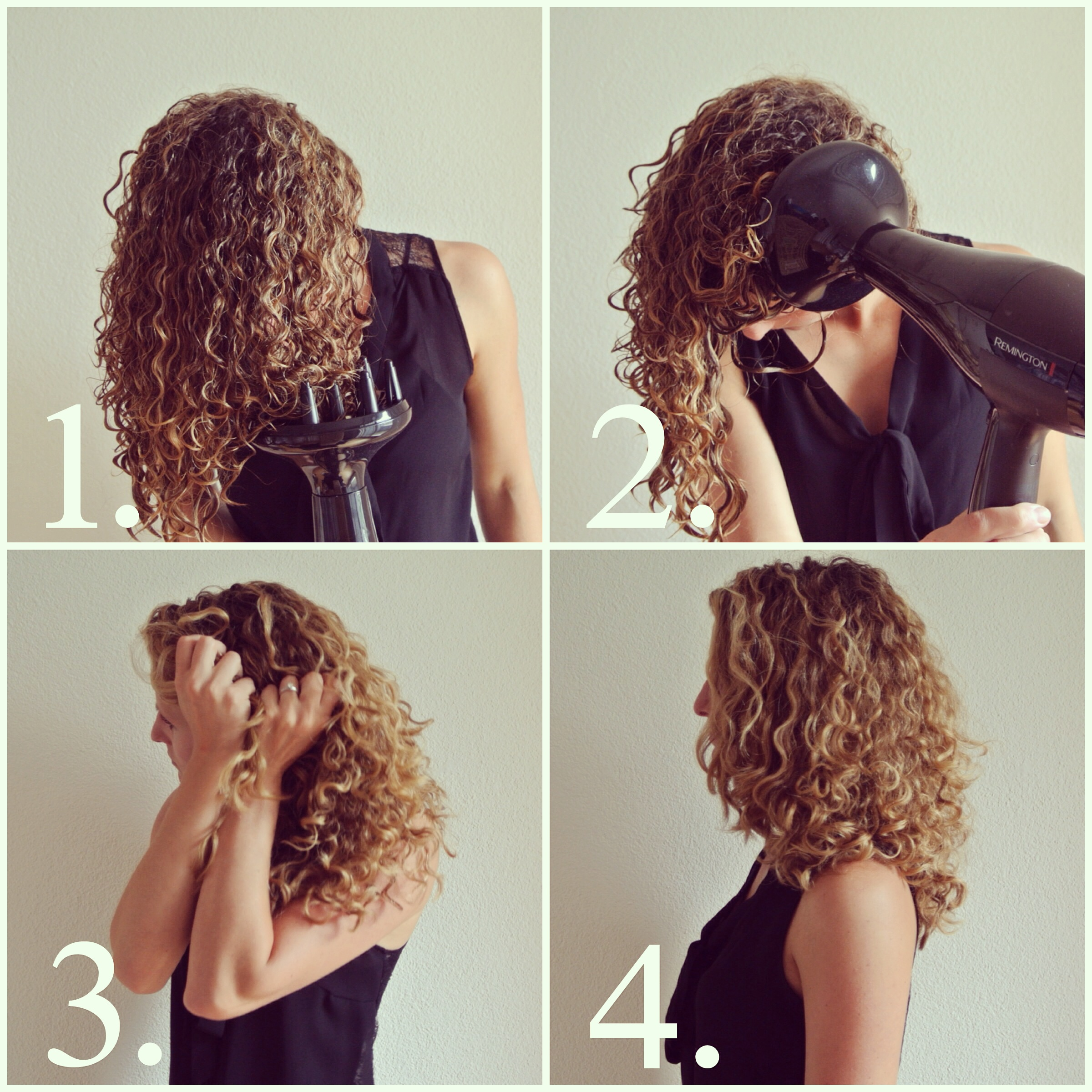 Air Dry Or Diffuse Curly Hair Short Curly Hair
