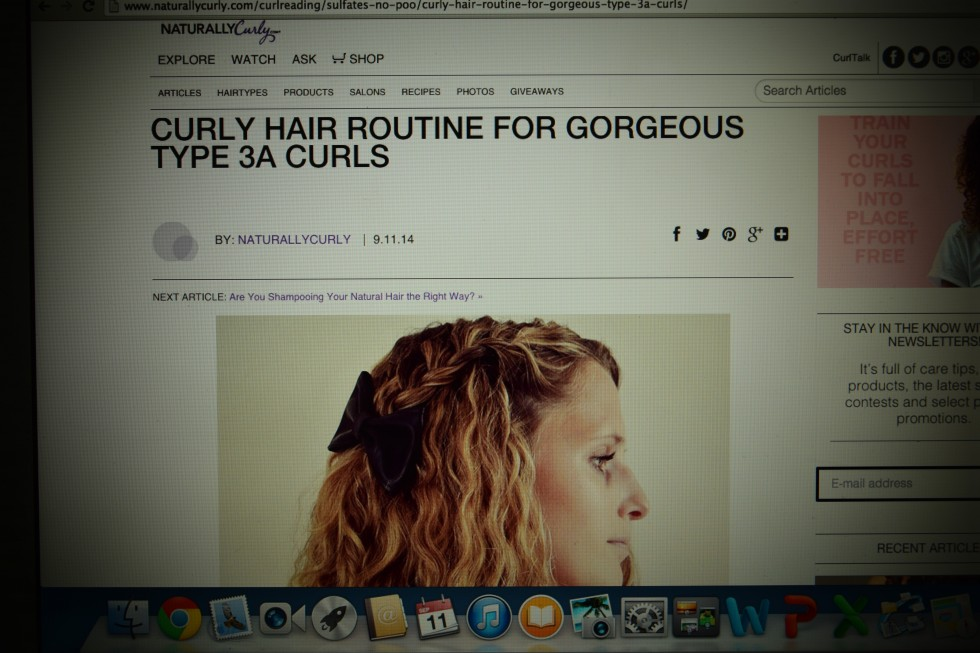 My curly hair routine on NaturallyCurly.com