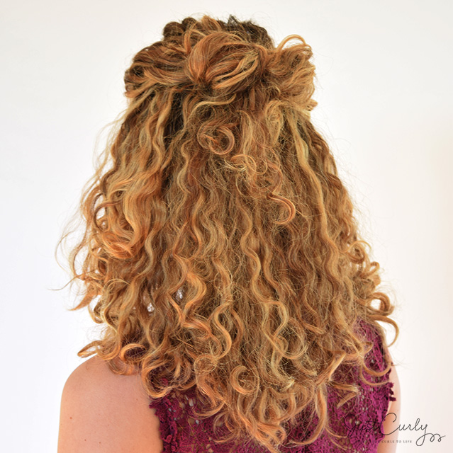hair bows in curly hair - photo #22