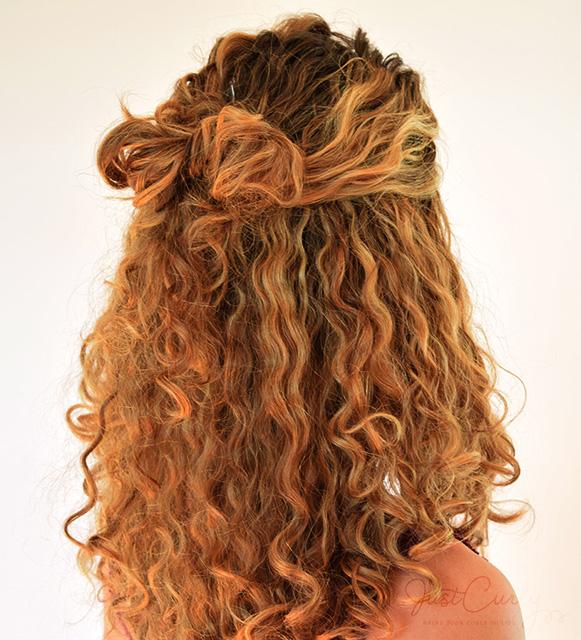 hair bows in curly hair - photo #35