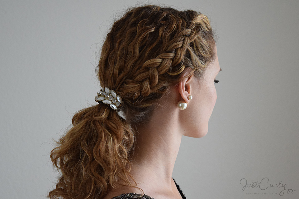 dutch braid with curly hair