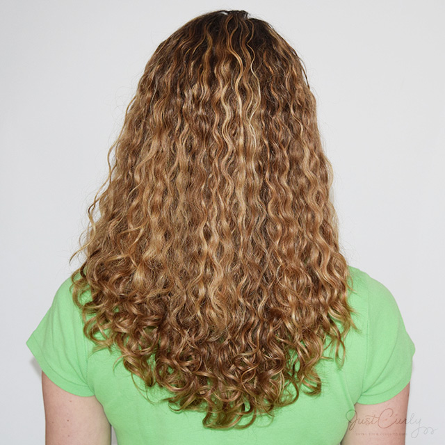 The back of my curls after air-drying them