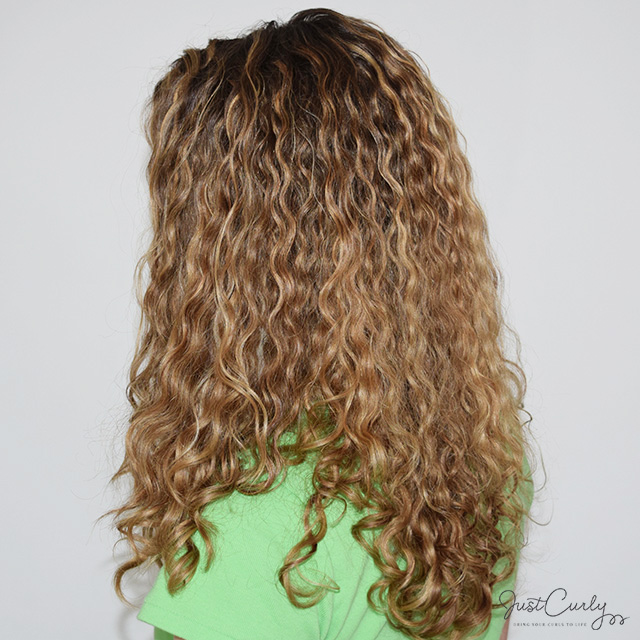 My curls from the side after air-drying them