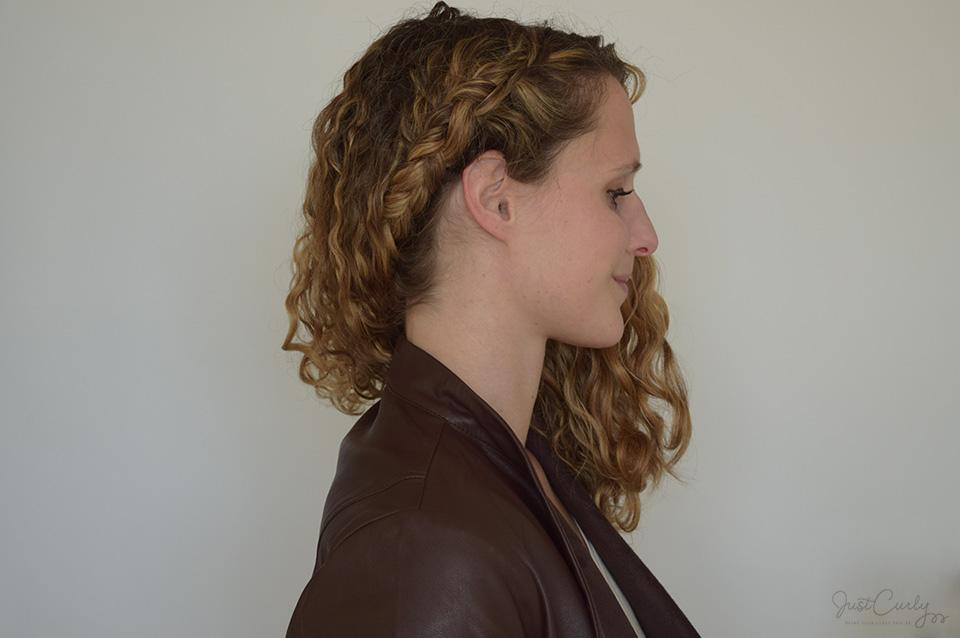 How to dutch braid curly hair