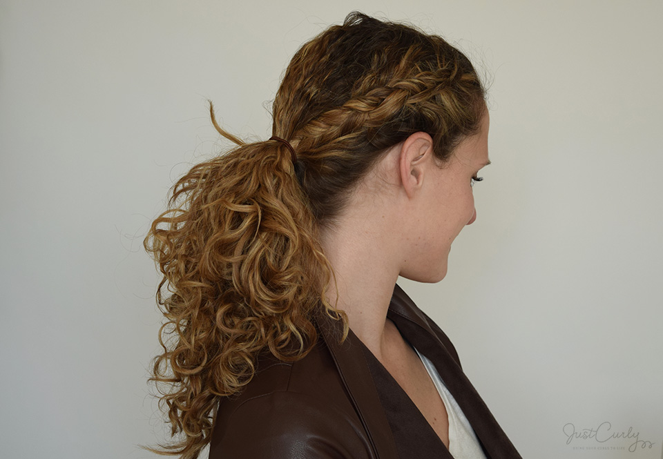 One Dutch Braid Two Great Hairstyles Justcurly Com