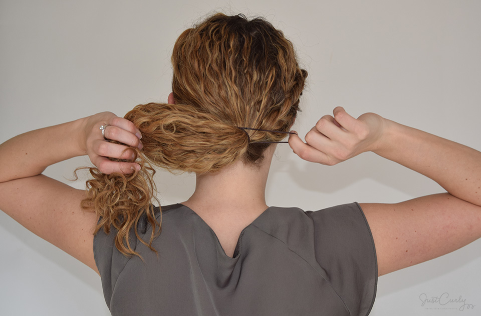 half french braid curly hair