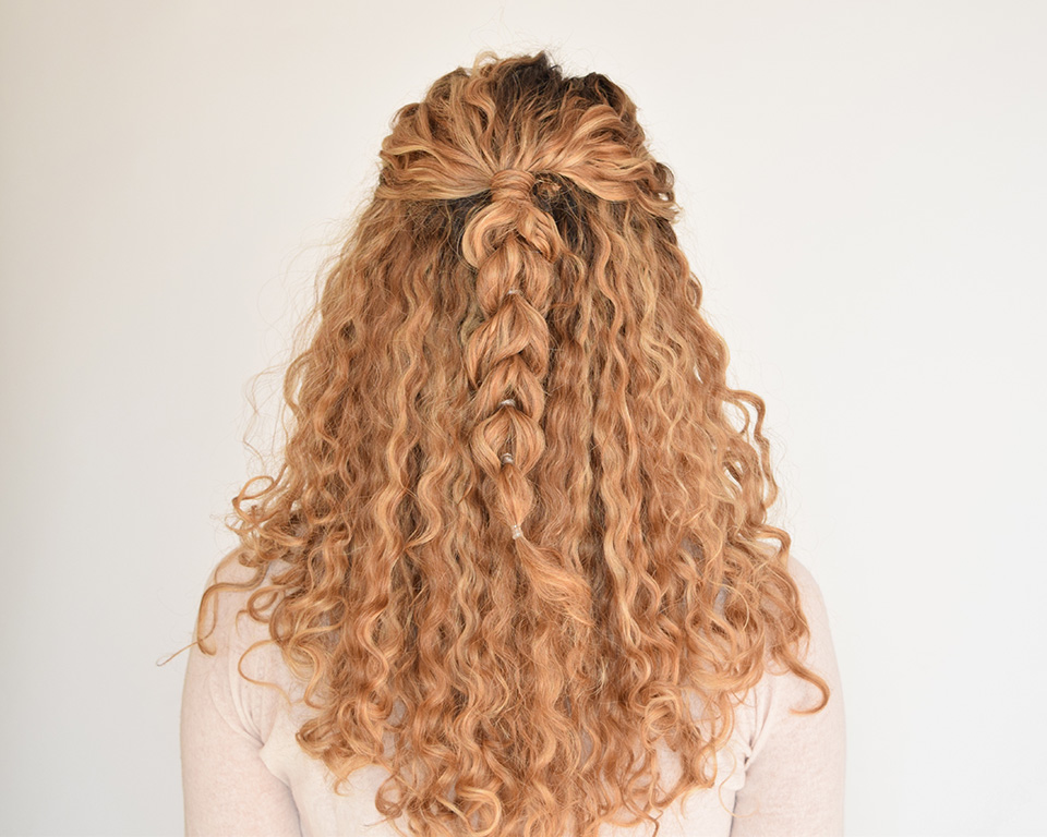 Hair Styles For Curly Hair Braids: How To Create A Pull Through Braid In Naturally Curly Hair