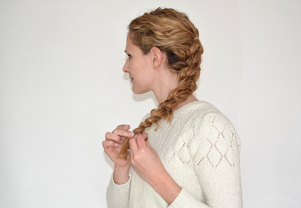 13. Repeat until you reach the end of your curls.