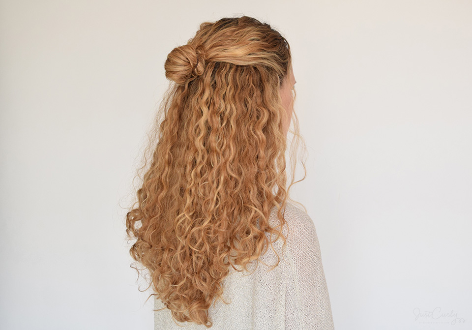 My Top 5 Half Updos For Curly Hair Justcurly
