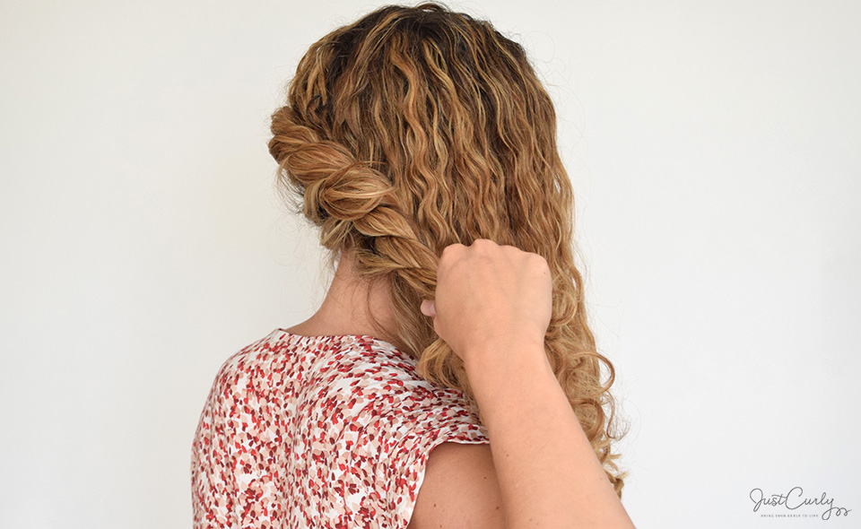 The Rope Braid Side Updo