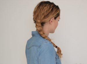 braided hairstyle for 3rd day curls