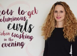 how to get voluminous curls when washing them in the evening