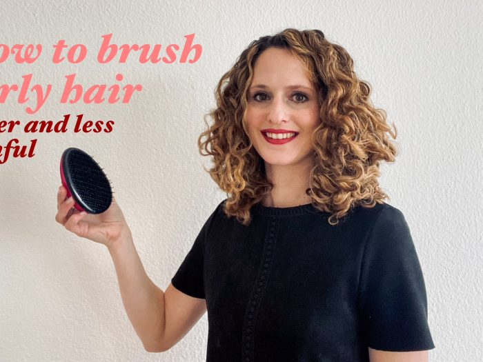 How to Brush your Curly Hair faster and less painful